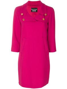 однотонное платье миди Boutique Moschino