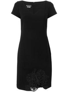 платье с вышивкой  Boutique Moschino