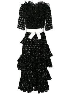 многослойное платье с рюшами Giambattista Valli