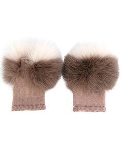 пушистые перчатки Agnona