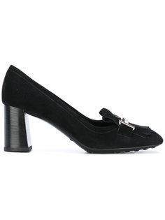 туфли с бахромой и фирменными пряжками Tods Tod`S