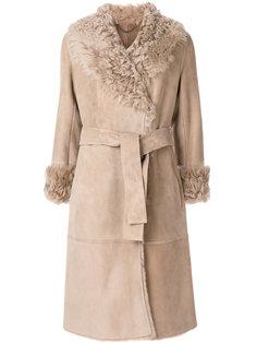 пальто из овчины с поясом Desa 1972