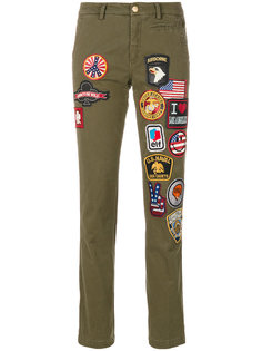 брюки с вышивкой History Repeats