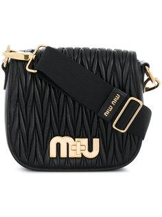 сумка с ребристой фактурой Miu Miu