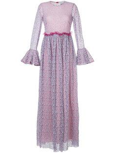 платье с цветочным узором и расклешенной юбкой Si-Jay