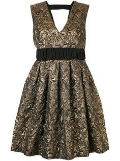 металлизированное платье с V-образным вырезом Si-Jay