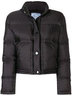 укороченное дутое пальто  Prada