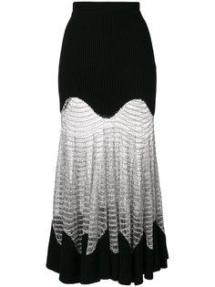 сетчатая юбка с отделкой металлик Alexander McQueen