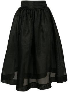 пышная юбка-миди Ganni
