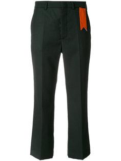 укороченные брюки с контрастной биркой The Gigi
