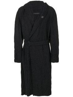 текстурированное пальто Yohji Yamamoto