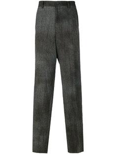брюки свободного кроя в клетку Yohji Yamamoto