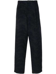 классические брюки с заниженным шаговым швом Yohji Yamamoto