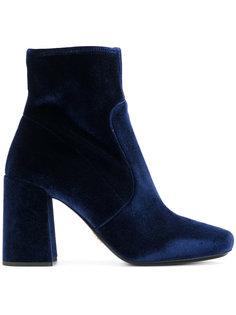 бархатные ботинки Prada
