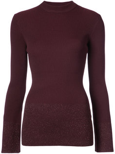 mock neck ribbed knit Nomia