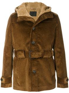 вельветовая куртка с поясом Prada