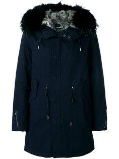 куртка с меховым капюшоном Yves Salomon