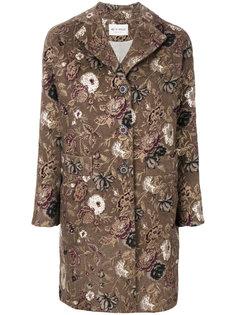 пальто на пуговицах с цветочным принтом  Etro