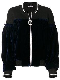 куртка-бомбер с бархатными панелями Aviù