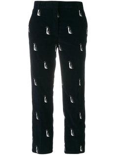 вельветовые брюки с пингвинами Thom Browne