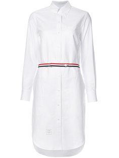платье с полосками на талии Thom Browne