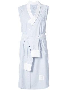 платье-рубашка без рукавов Thom Browne
