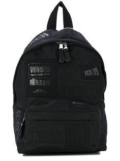 рюкзак с нашивками логотипа Versus
