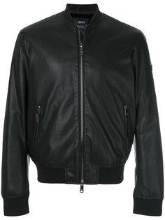 куртка-бомбер с логотипом сзади Armani Jeans