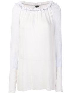 длинная присборенная блузка  Ann Demeulemeester