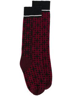 носки с геометрическим узором Haider Ackermann