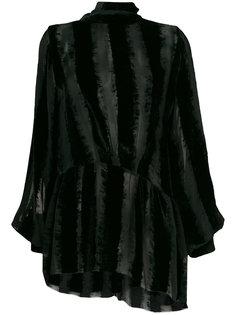 полупрозрачная блузка с воротником-стойкой  Ann Demeulemeester