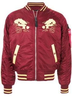 куртка-бомбер с вышивкой Japan  Alpha Industries