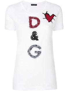 футболка с аппликацией с логотипом Dolce & Gabbana