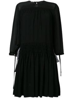 платье со сборкой на поясе Miu Miu