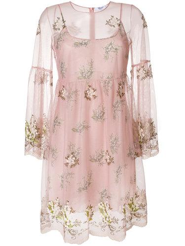 платье из тюля с вышитыми цветами Blugirl