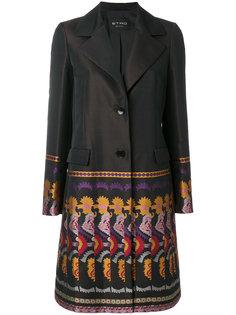 пальто с повторяющимся узором на подоле Etro