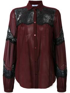 рубашка с кружевными панелями Blumarine