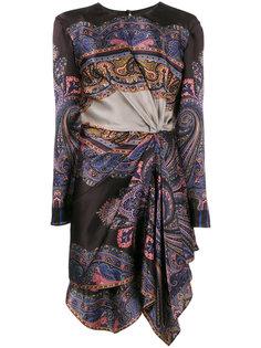 асимметричное платье с драпировкой и принтом  Etro