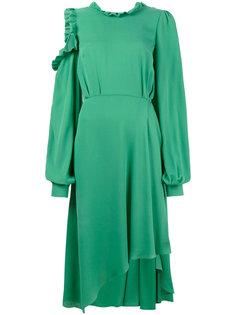 асимметричное платье с открытой спиной и оборкой Calgiari Magda Butrym