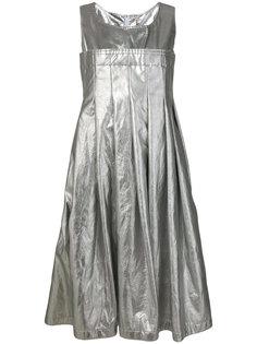 плиссированное платье металлик  Comme Des Garçons