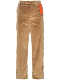 расклешенные брюки с контрастной аппликацией  The Gigi