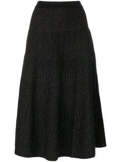 раклешенная юбка в рубчик Antonio Marras