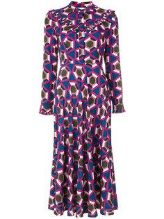 платье-рубашка с геометрическим принтом  Pardens Pardens