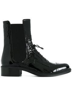 лакированные ботинки на шнуровке Barbara Bui