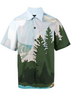 рубашка с принтом горного пейзажа Prada