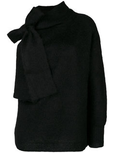 джемпер с одним рукавом и шарфом Nº21