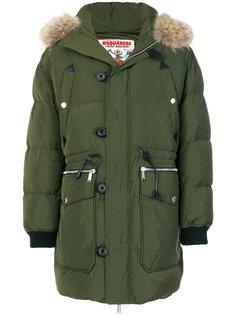 пальто-пуховик в стиле милитари Dsquared2