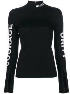 свитер слим с логотипом  Versace