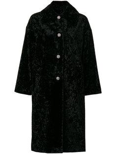 свободное пальто с декорированными пуговицами  Lanvin