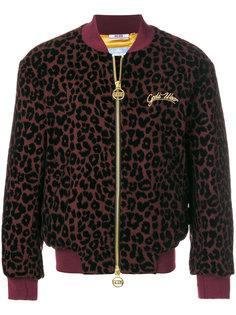 куртка на молнии с леопардовым принтом Gcds